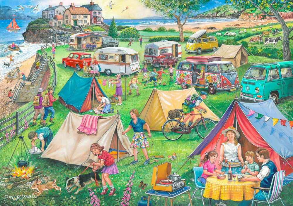 The house of puzzles 1000 piece jigsaw puzzle camping for Find a house online