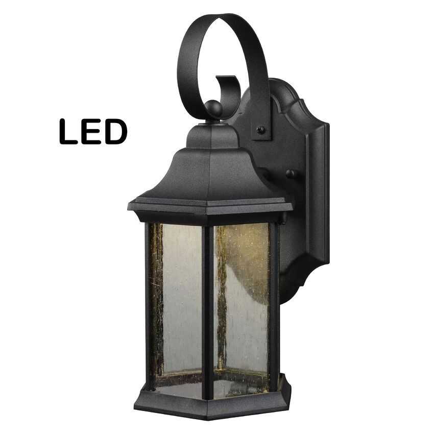 Black Outdoor Led Patio Porch Exterior Light Fixture 21 1932 Ebay
