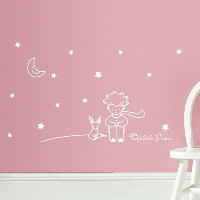 Stars moon the little prince boy wall sticker home decor for Amazing look with moon and stars wall decals