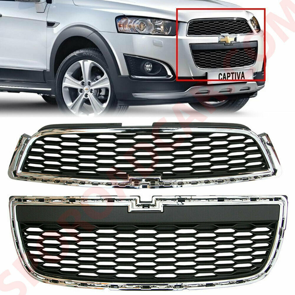 Front Radiator Upper LOW Grille 2PCS For GM Chevrolet