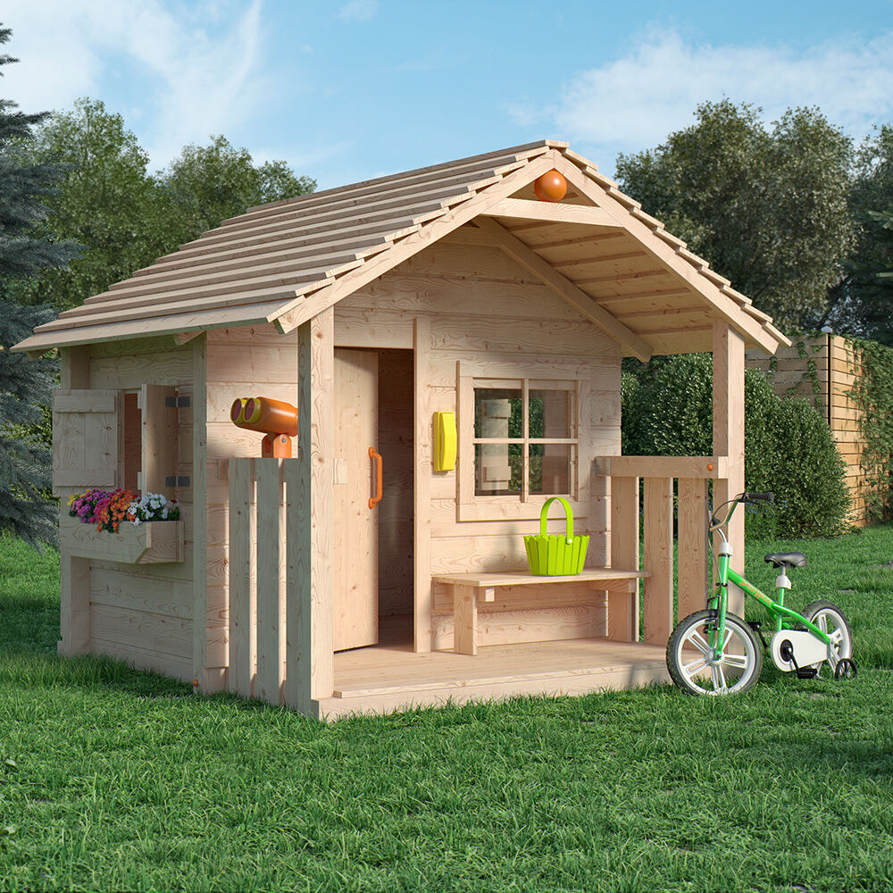 colin castle spielhaus kinderspielhaus gartenhaus holz haus mit terrasse veranda ebay. Black Bedroom Furniture Sets. Home Design Ideas