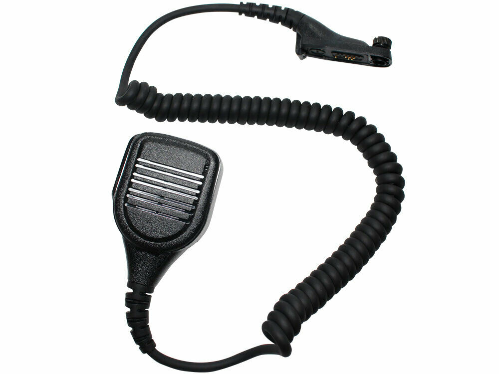 Avenger Covert lapel mic and PTT with connection to radio and non-comms headset