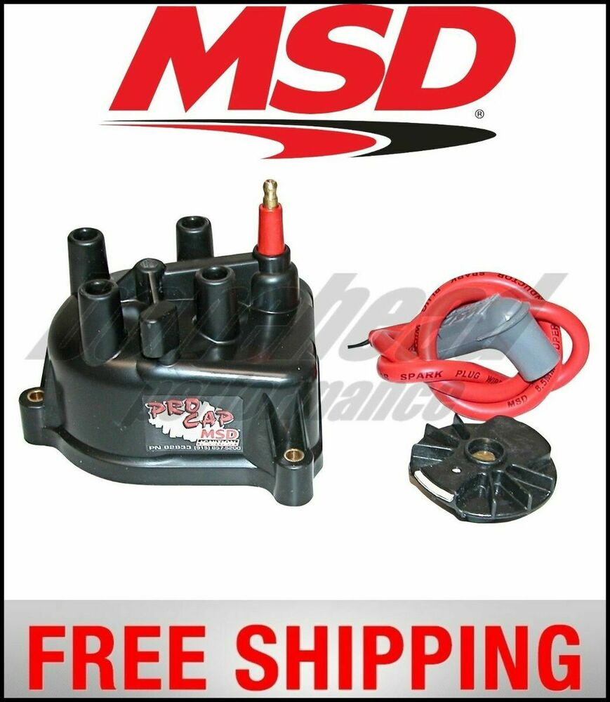 MSD Ignition Distributor Cap And Rotor, Modified, Acura