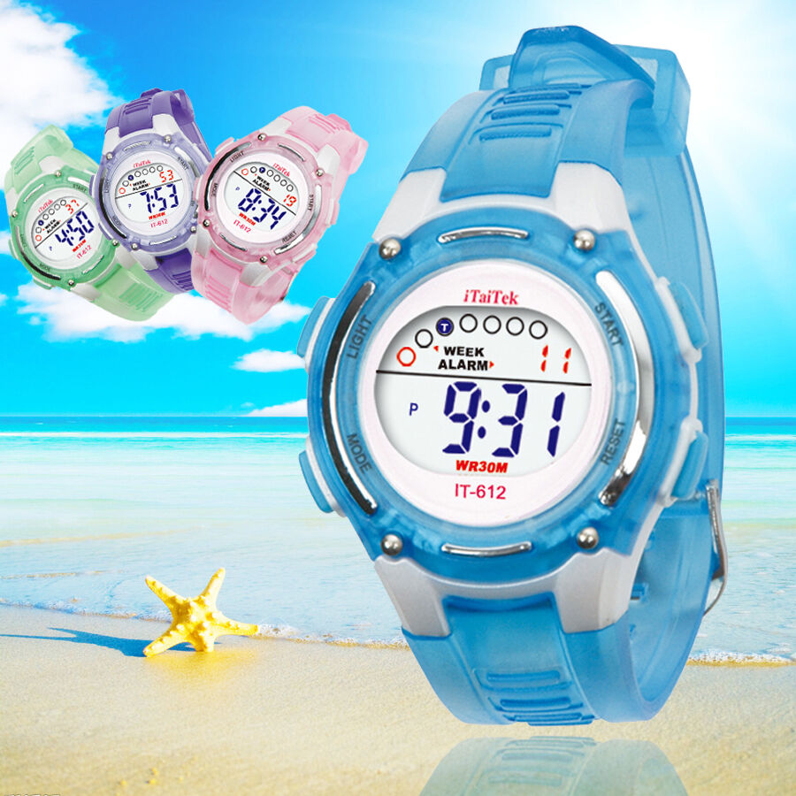 waterproof children unisex boys digital swim