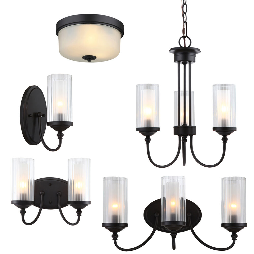 Lexington Oil Rubbed Bronze Bath Vanity, Ceiling Lights
