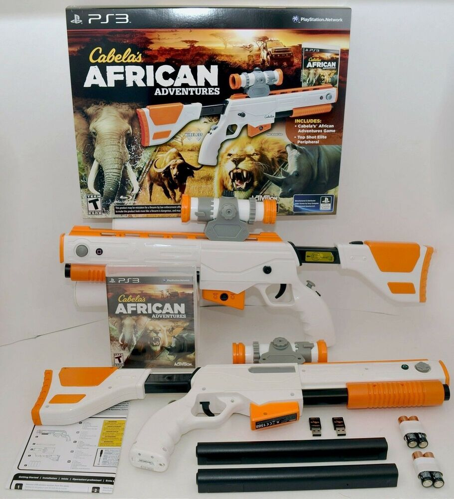 new 2gun bundle cabelas african adventures ps3 game w