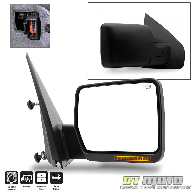 2004 2006 04 06 ford f150 power heated mirror w led signal. Black Bedroom Furniture Sets. Home Design Ideas