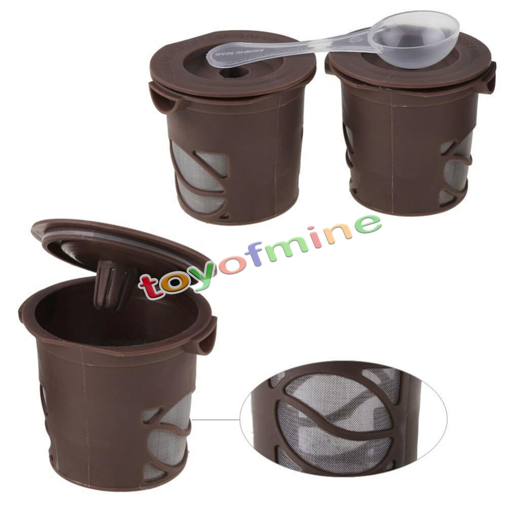 One Cup Coffee Maker With Reusable Filter : Keurig K-Cups Refillable Coffee Single Cup Reusable Filter For Coffee Machine SM eBay