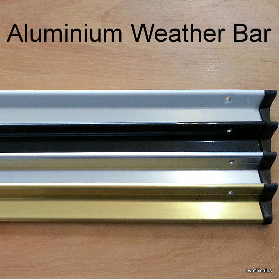 aluminium weather rain deflector drip bar door window black white gold silver ebay. Black Bedroom Furniture Sets. Home Design Ideas