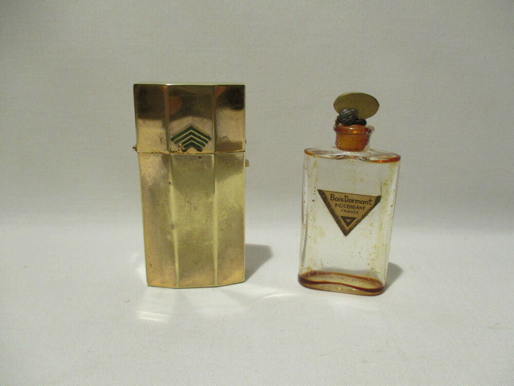 ancien flacon et son etui parfum houbigant bois dormant 1925 art deco perfume ebay. Black Bedroom Furniture Sets. Home Design Ideas