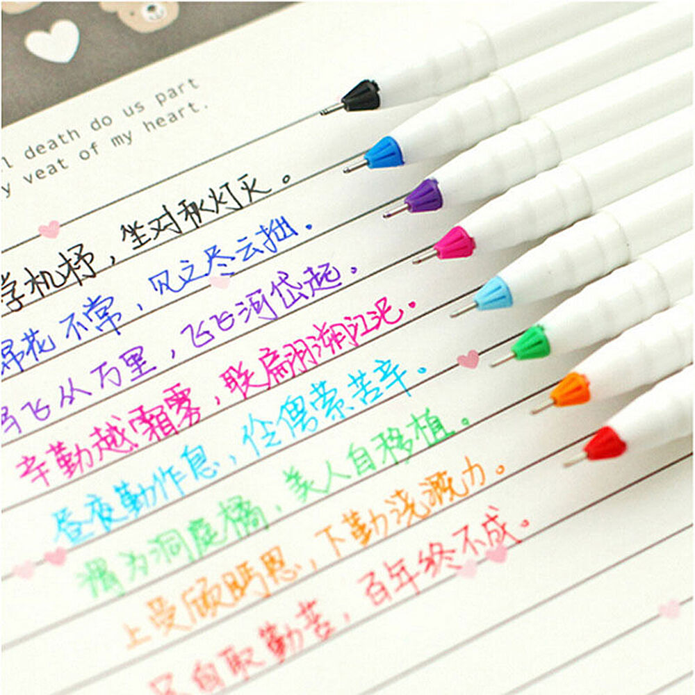 40 Best American Stationery Gifts Images On Pinterest: New 8PCS Cute Korean Stationery Watercolor Pen Gel Pens
