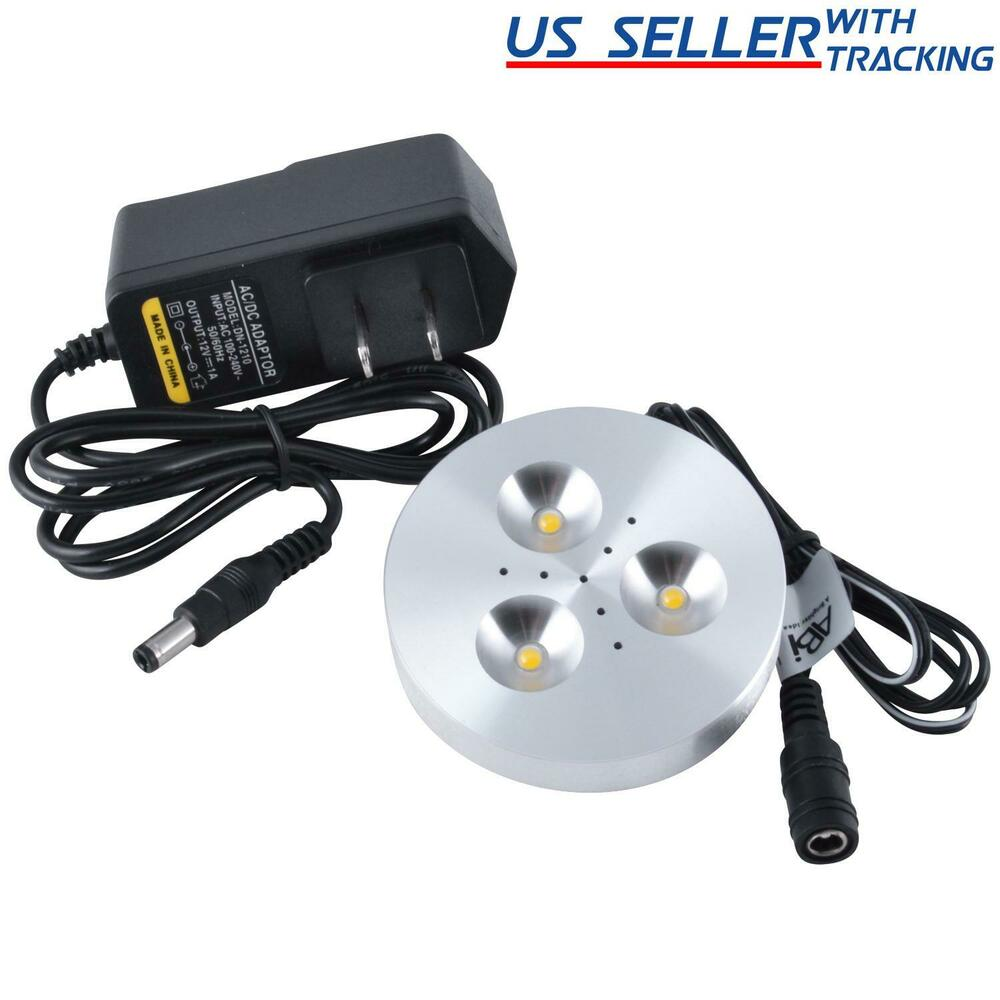 Abi 3w Led Puck Light Kit For Under Cabinet Lighting Cool