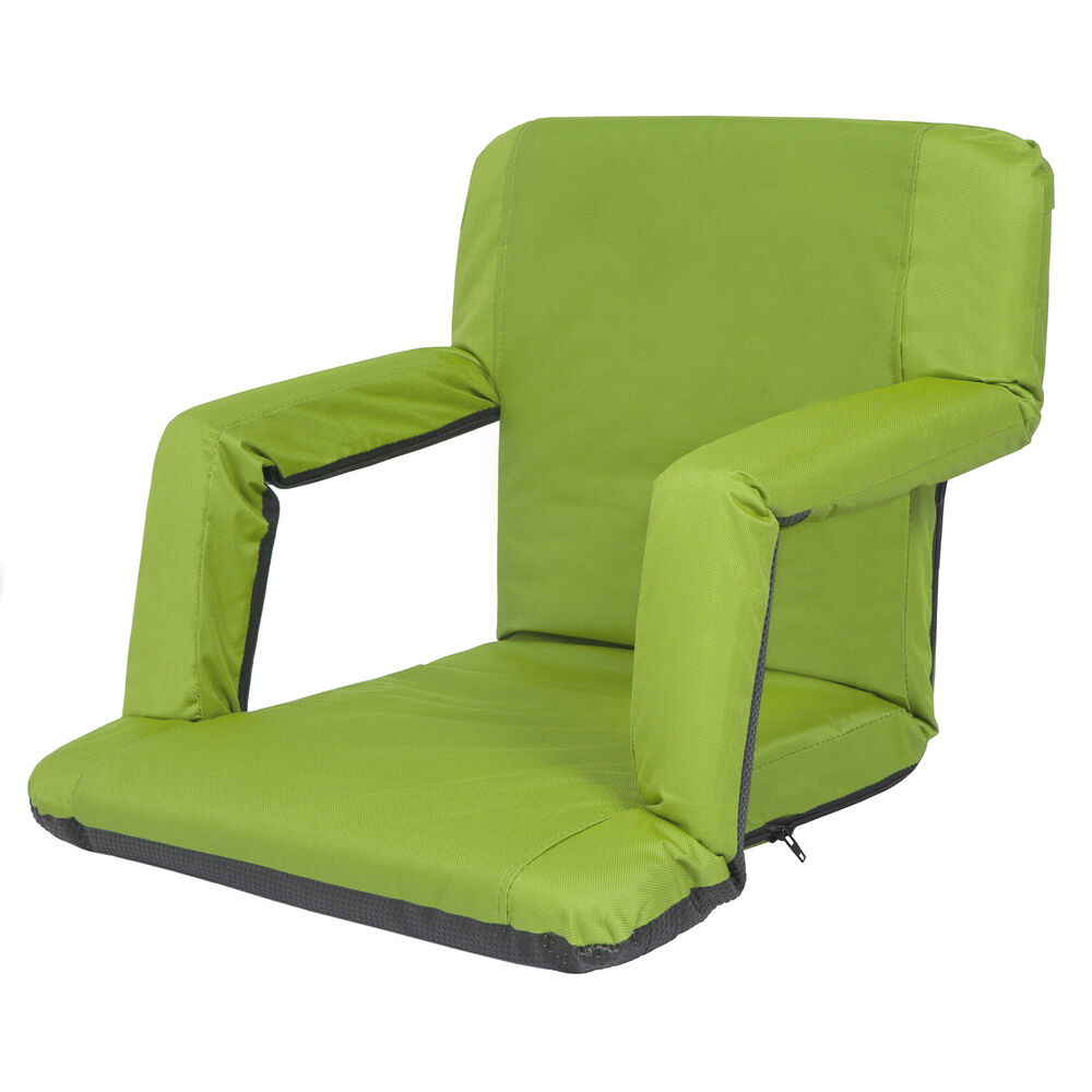 Portable Reclining Seat Padded Cushion Camping Chair