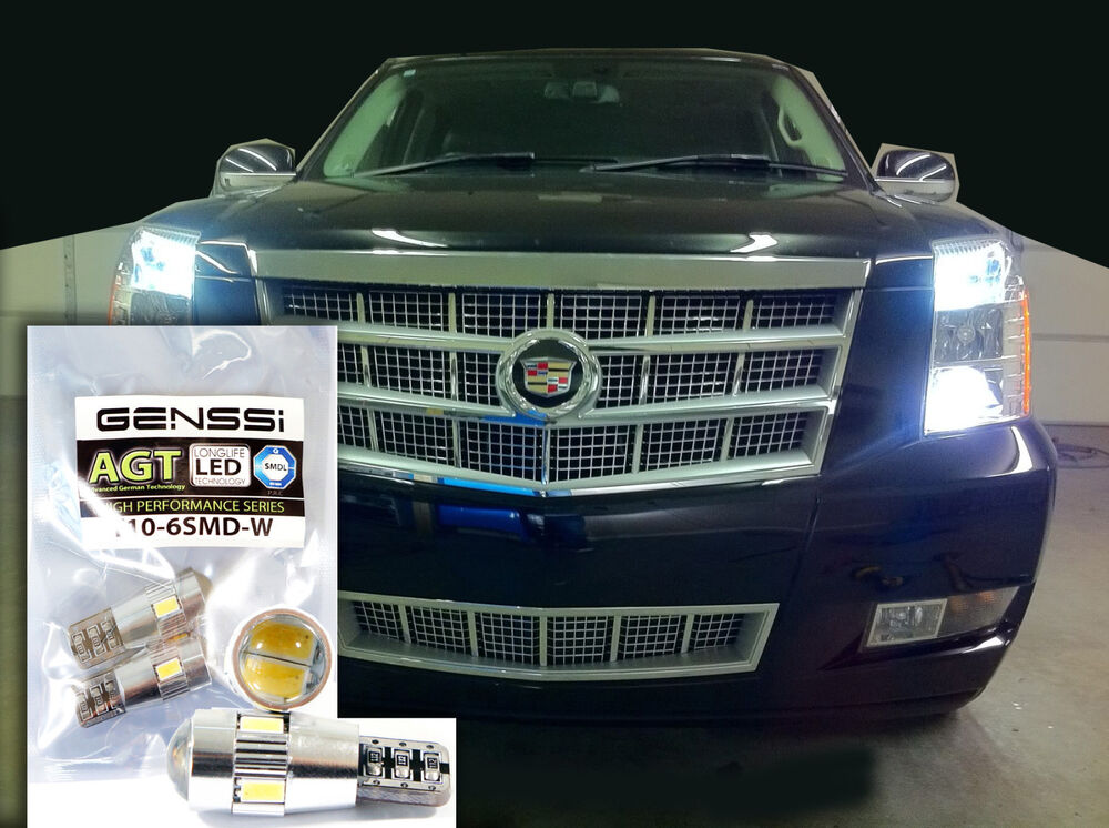 Brightest Led Bulb >> CADILLAC ESCALADE 194 T10 Front Sidemarker LED Bulbs - The brightest Bulb! | eBay