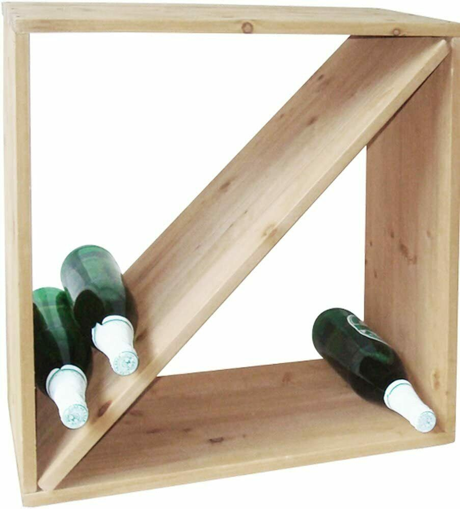 weinregal stapelbar wein regal holz massiv weinflaschen regalsystem stand ebay. Black Bedroom Furniture Sets. Home Design Ideas