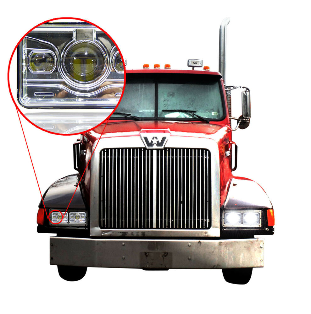 LED Projector Headlamps (Pack Of 1) For Western Star 4900