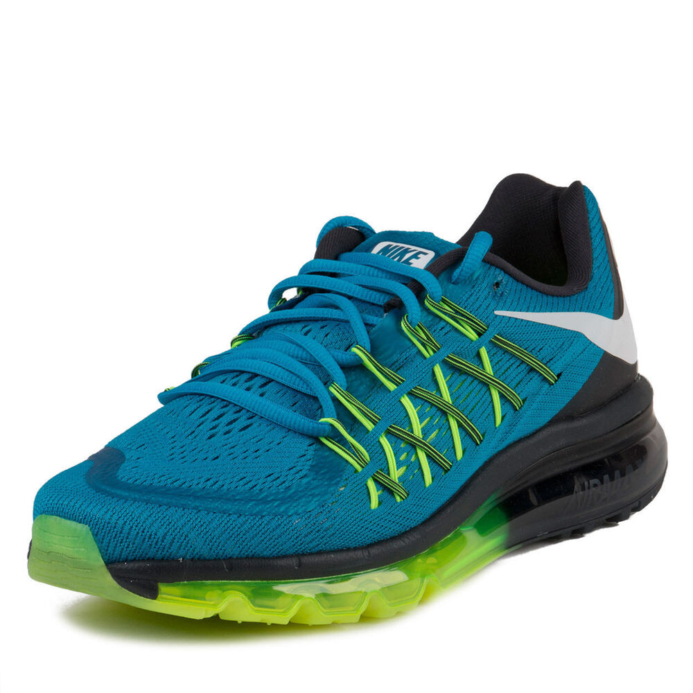 New Nike Women's Air Max 2015 Running Shoes Black/Blue