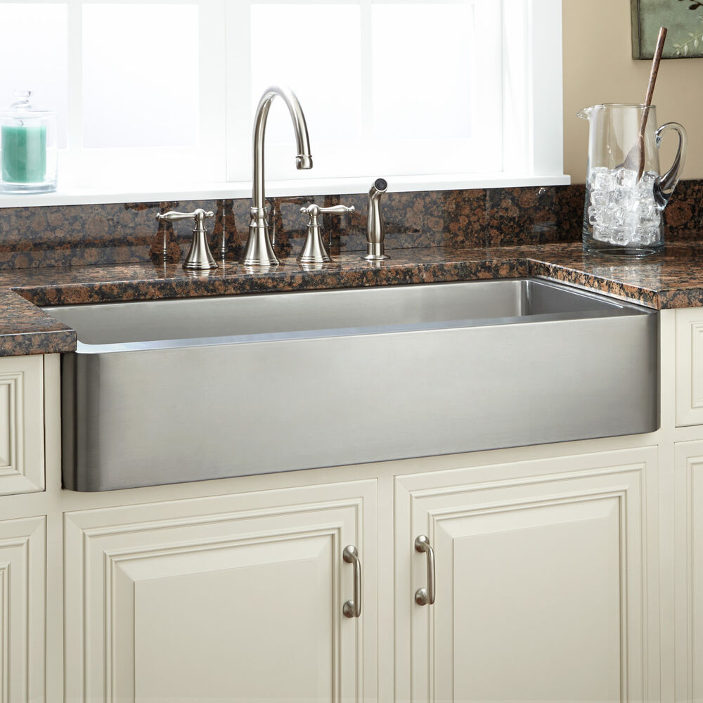 Signature hardware 36 quot hazelton stainless steel retrofit farmhouse