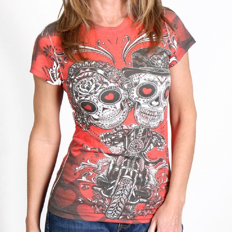 Check out Inked Shop's large selection of women's goth, tattoo, rockabilly, & indie inspired t-shirts. Choose from a variety of styles & brands online today!