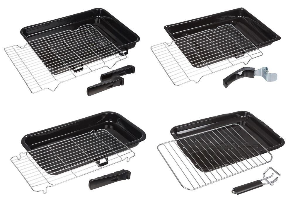 Universal Oven Cooker Grill Pan Tray Complete With Steel