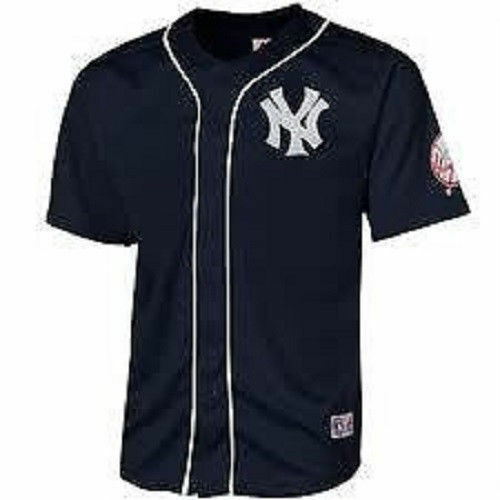 fc3daf904 Majestic New York NY Yankees Youth Navy Blank Back Jersey New with Tags