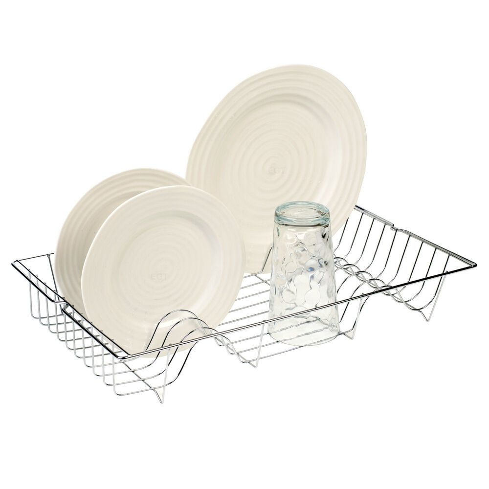 kitchen sink drainer trays metal chrome wire dish rack kitchen sink drainer washing 5764