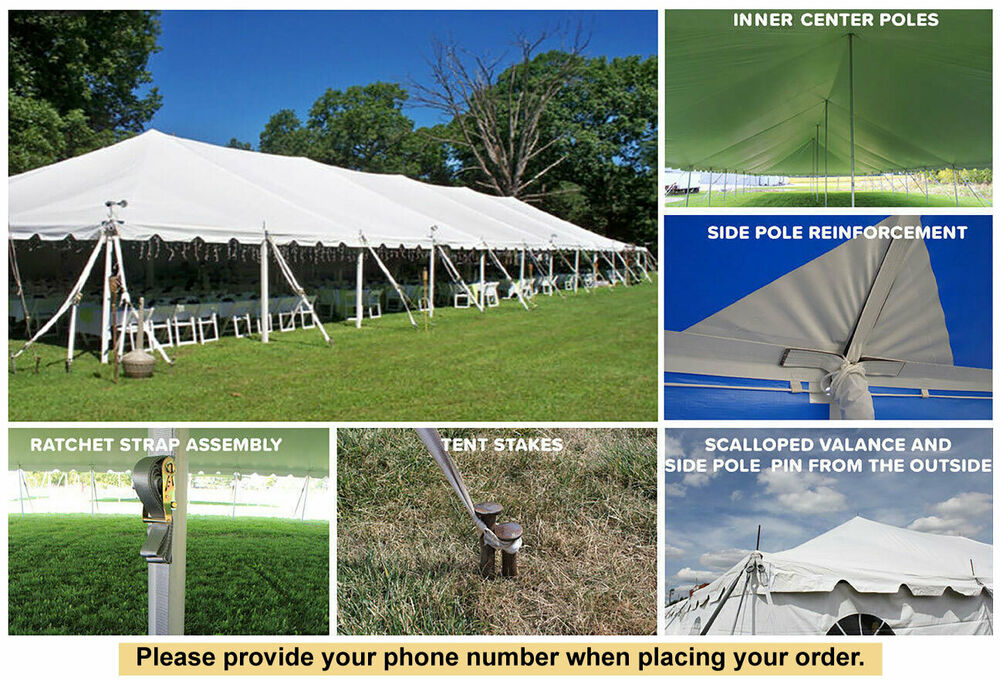 40x120 White Vinyl Classic Pole Tent For Wedding Outdoor