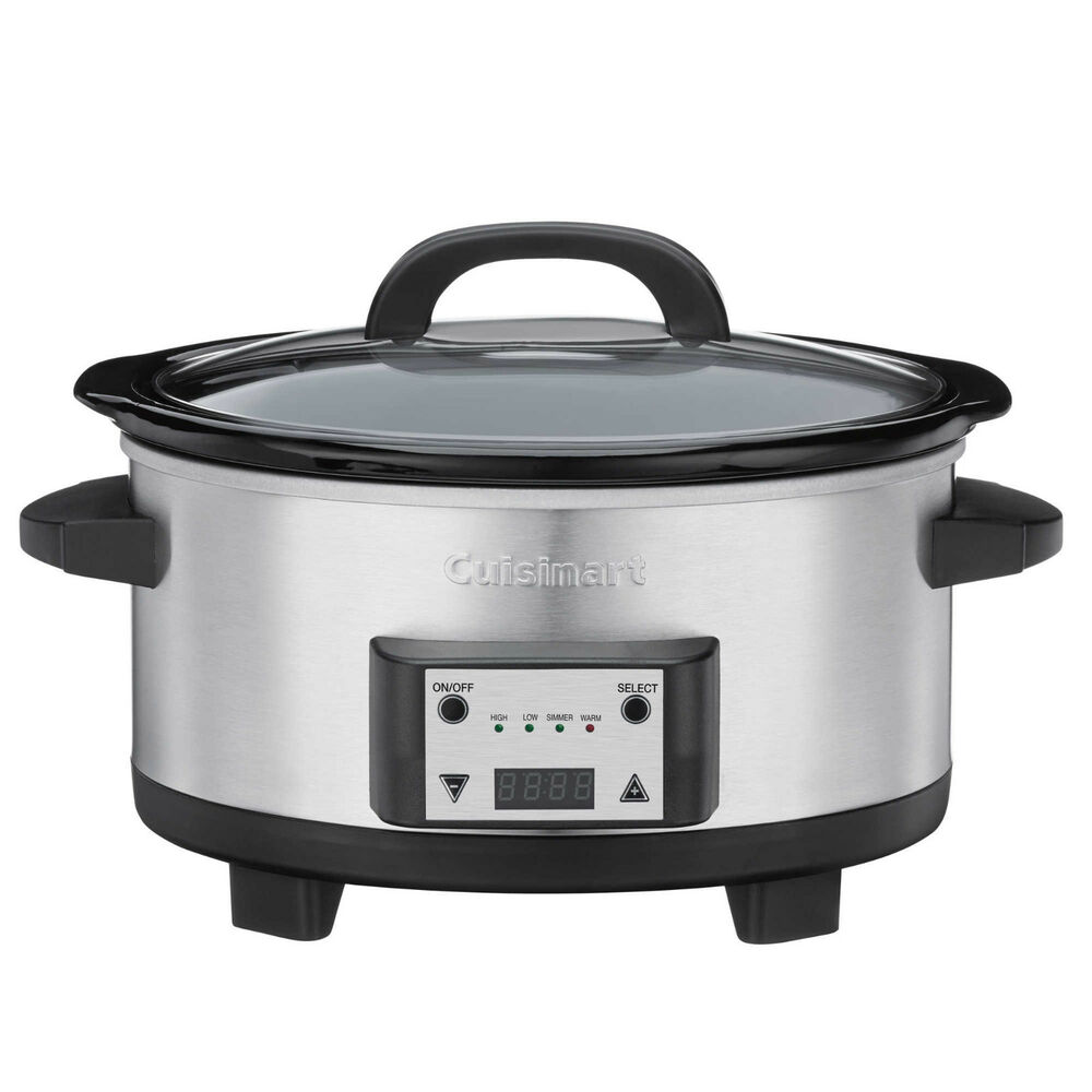 cuisinart slow cooker cuisinart 6 5 qt oval multi quart home kitchen crock pot 10785