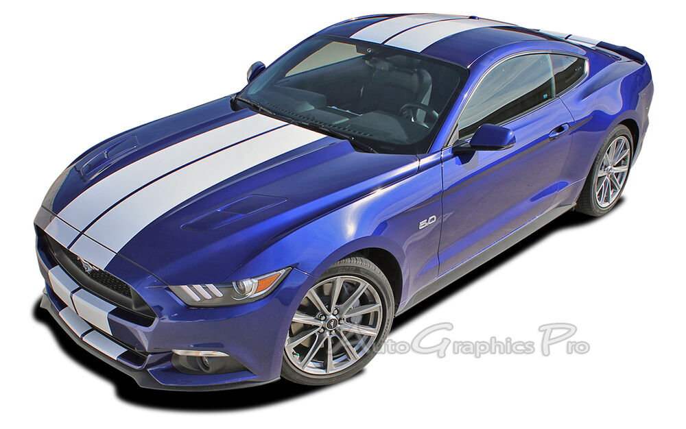 Mustang Decals And Stripes >> RACING STRIPES 10 Inch Wide Hood Decals GT 3M PRO Vinyl ...