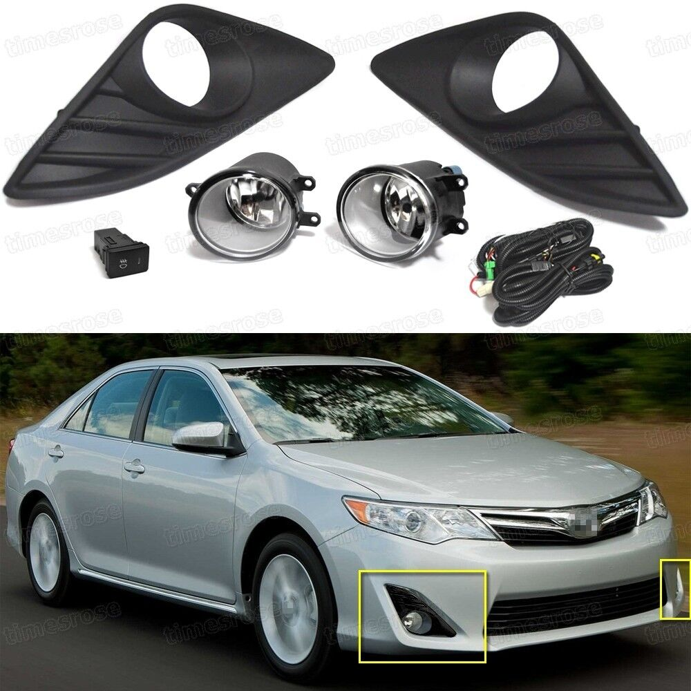 oem front fog lights lamp  cover grille  switch for toyota