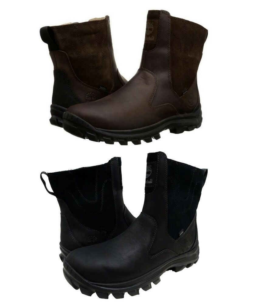 ea93a80ea6a8 Timberland Mens Chillberg Mid Side Zip Insulated Waterproof Winter Boots  Shoes