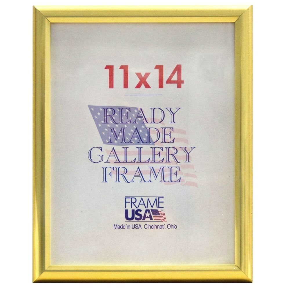 deluxe gold poster frame w plexi glass 15 sizes to