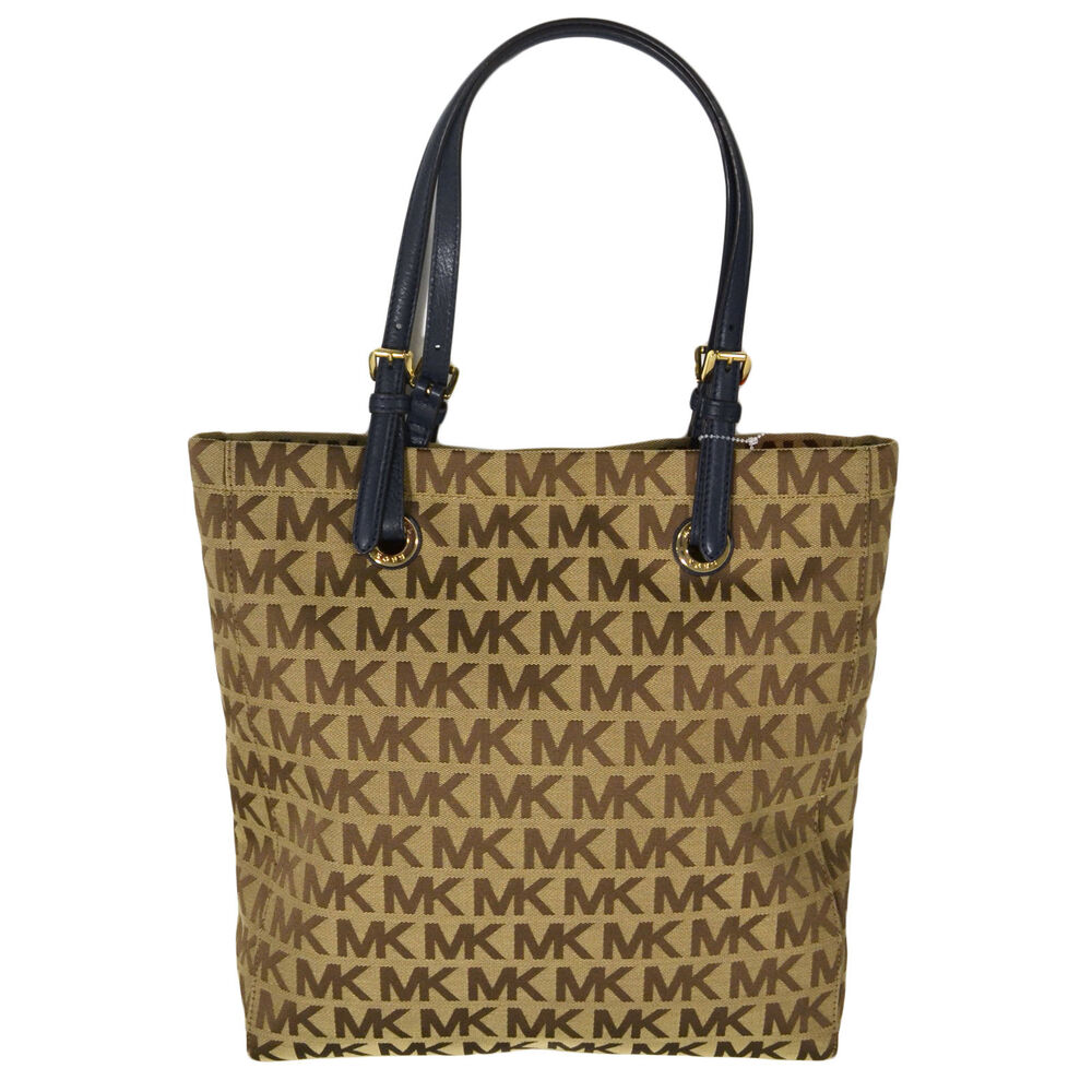 michael kors handbag jet set item purse ns tote beige navy rh ebay com