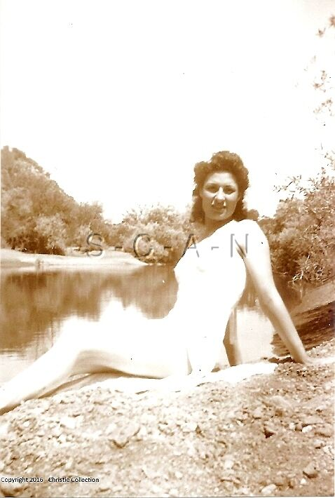 1940s-60s Sepia (4 x 6) Nude Repro Pinup RP- Transparent