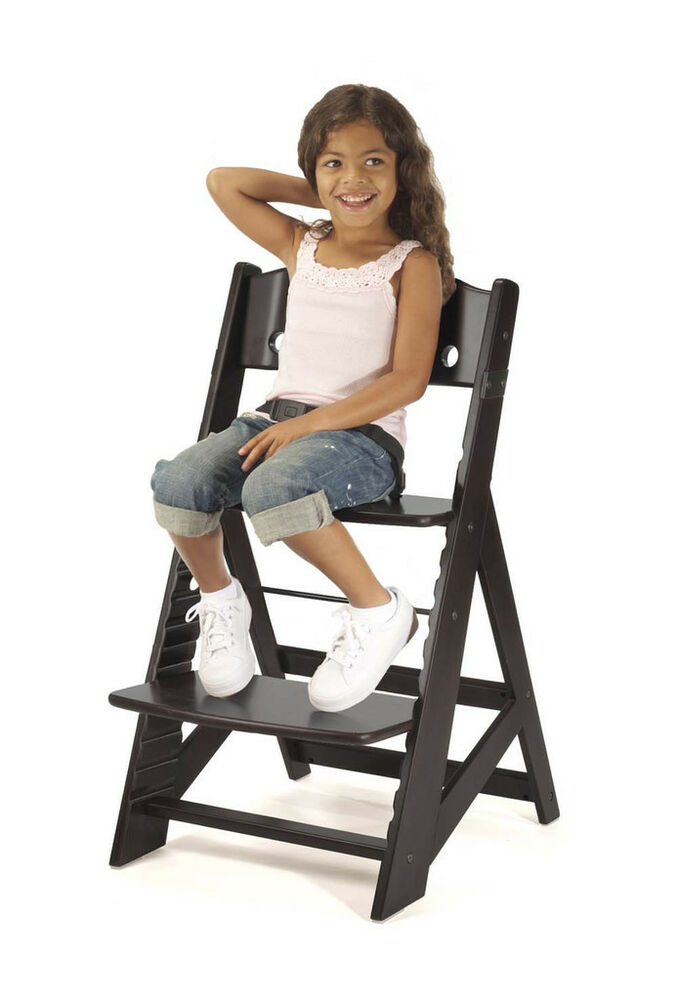 keekaroo height right adjustable wooden high chair baby kids 39 espresso new ebay. Black Bedroom Furniture Sets. Home Design Ideas