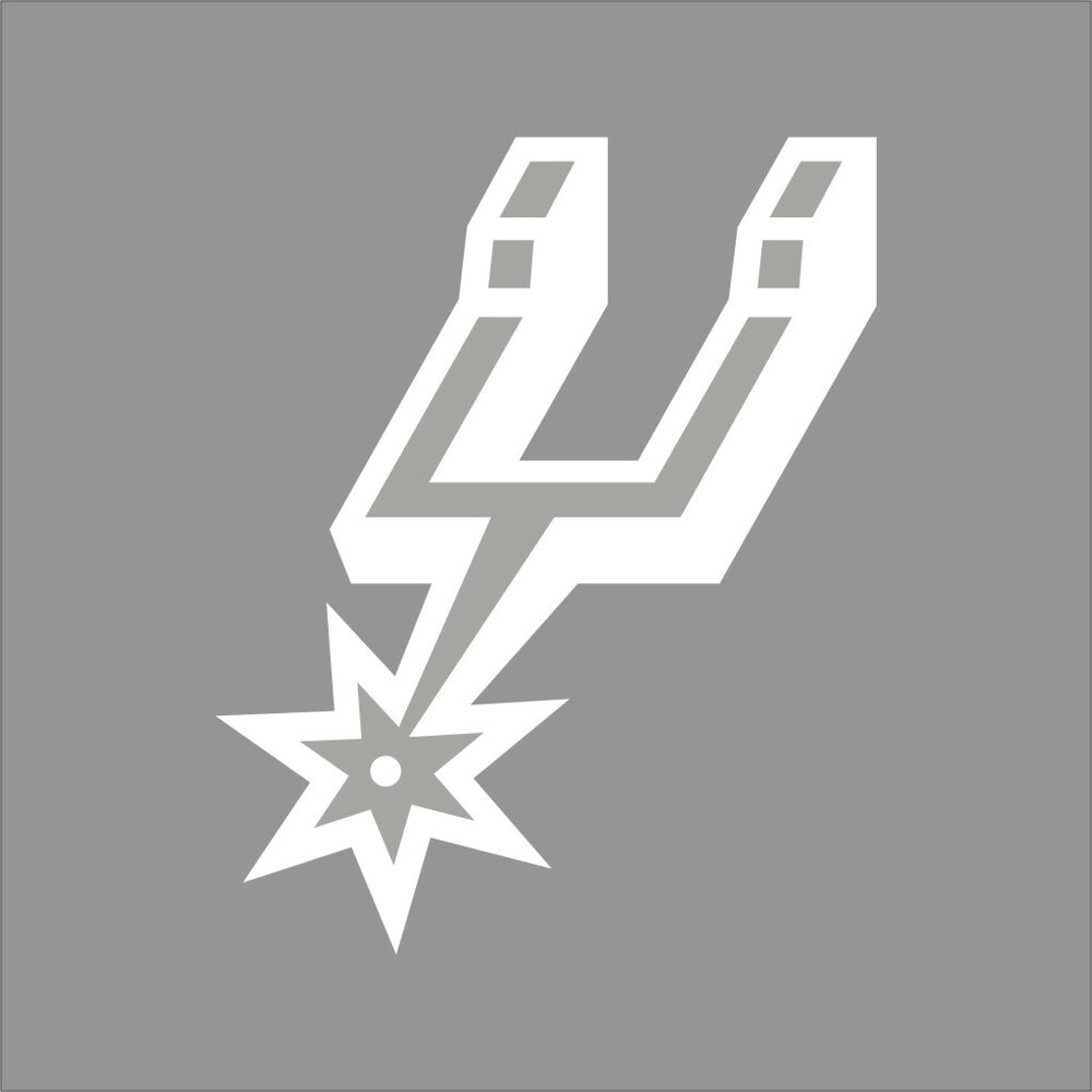San Antonio Spurs 2 Nba Team Logo 1color Vinyl Decal