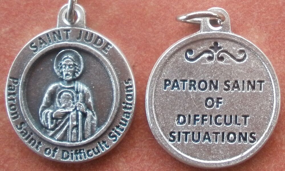 Saint St JUDE Medal Charm 34 Difficult Situations EBay