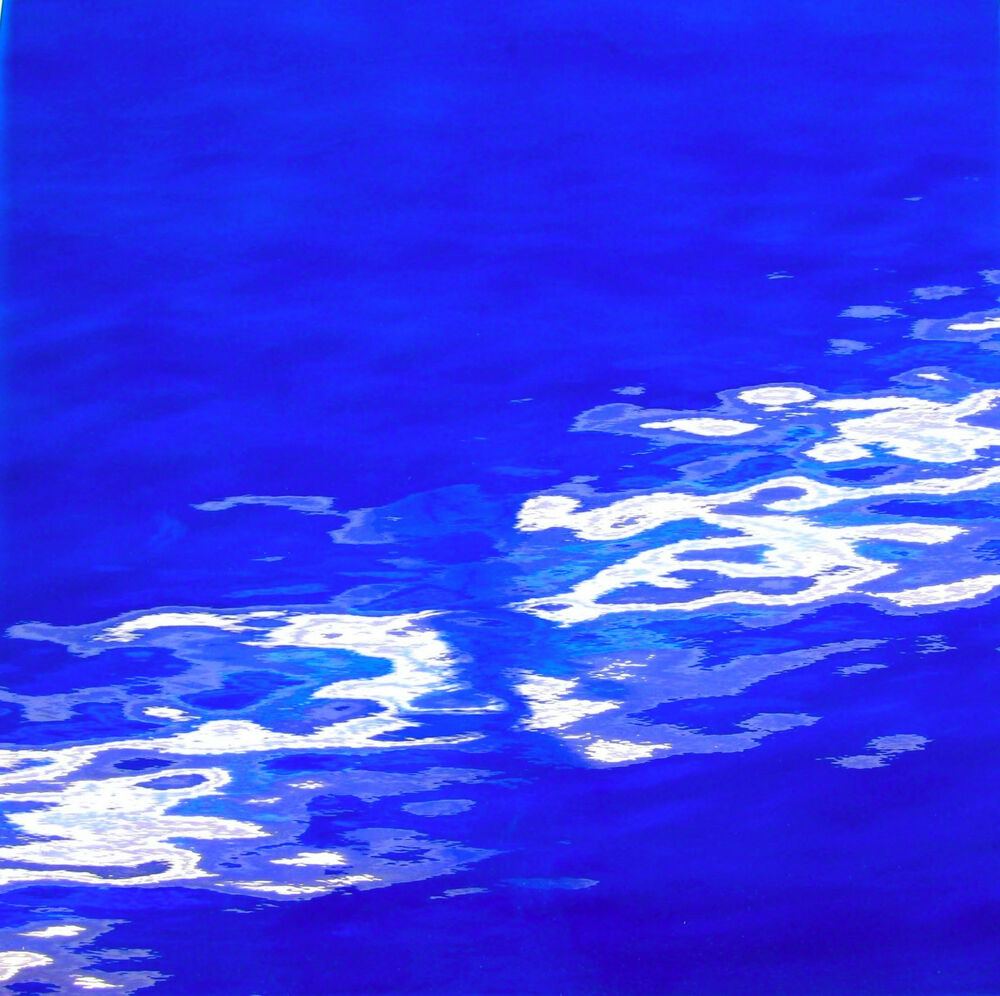 Sparkling Cobalt Blue Waterglass Stained Glass Sheet Or