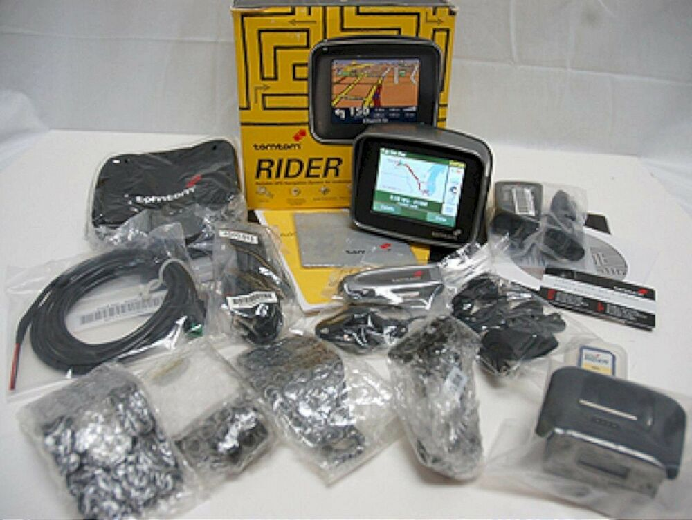 tomtom rider 1 motorcycle bike gps navigator set tom 1st. Black Bedroom Furniture Sets. Home Design Ideas