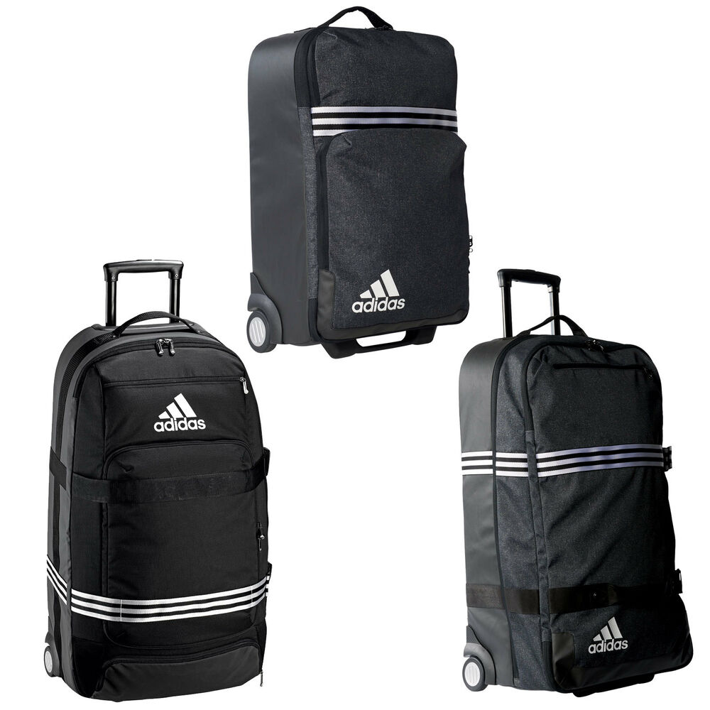 9fd8fcc653 Details about adidas Performance Travel Team Trolley Travel Cases Suitcase  Black