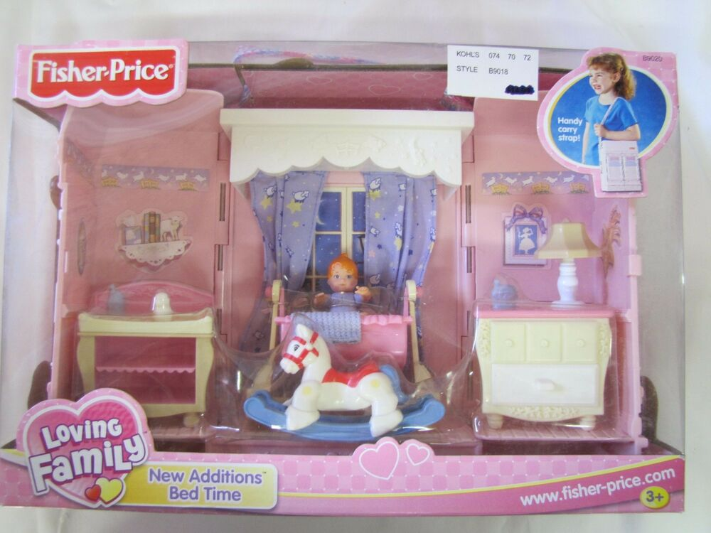 New Fisher Price Loving Family Dollhouse New Additions Bed Time Baby Girl Room Ebay