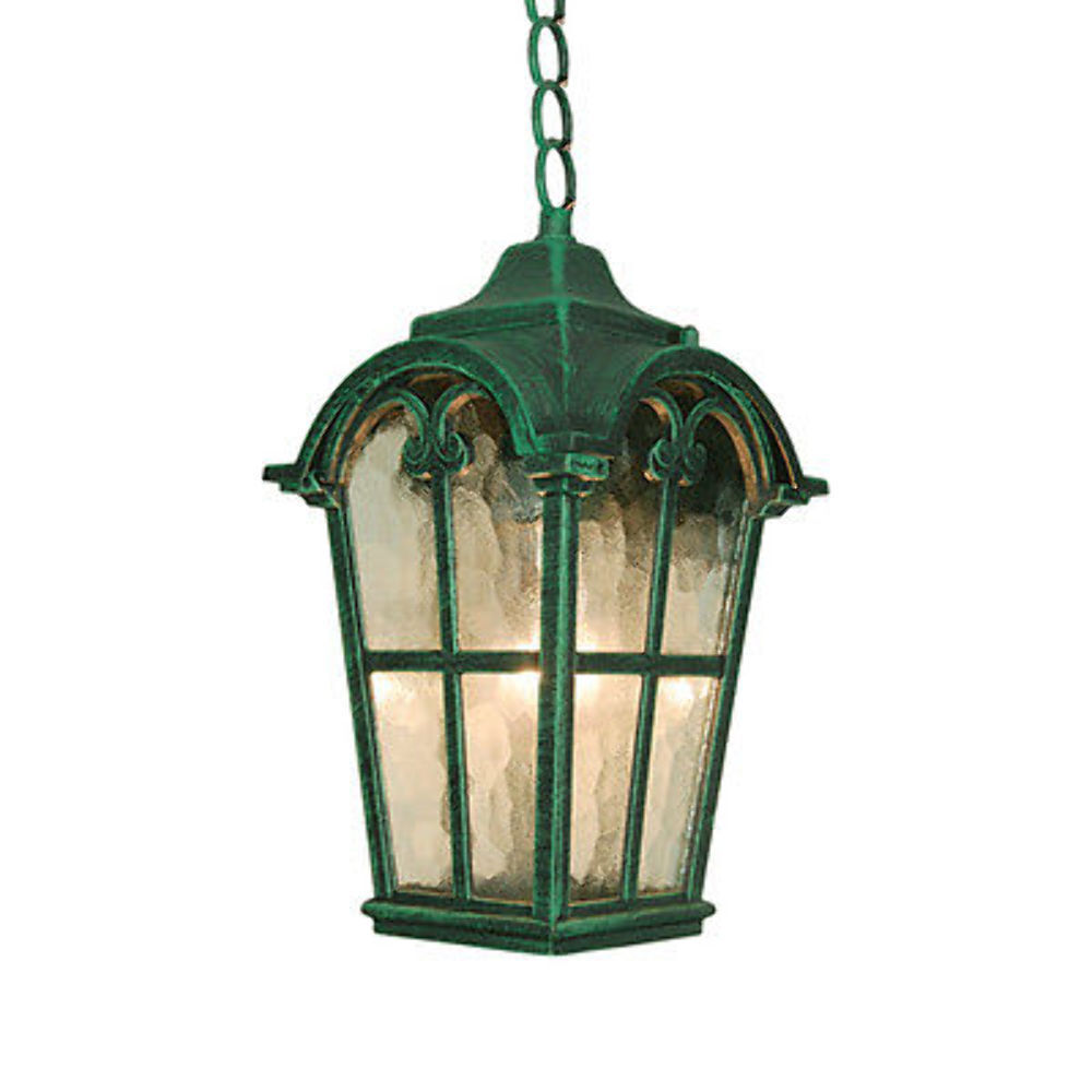 Outdoor hanging pendant lantern lamp light lighting for Hanging outdoor light fixtures