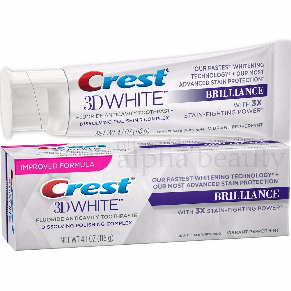 Crest 3D White Brilliance Vibrant Peppermint Whitening