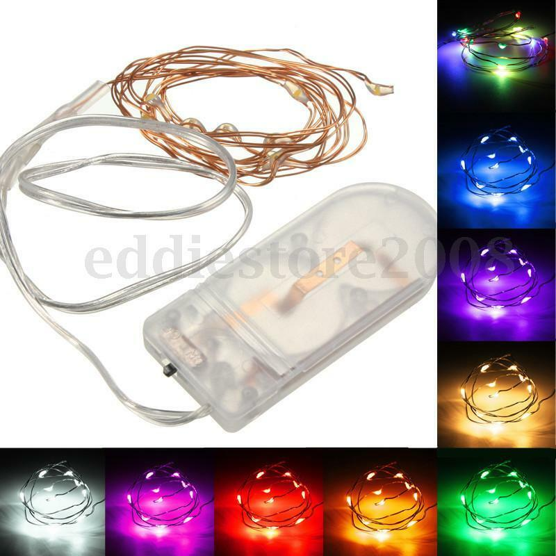 1m 10led battery operated copper wire string light 85931