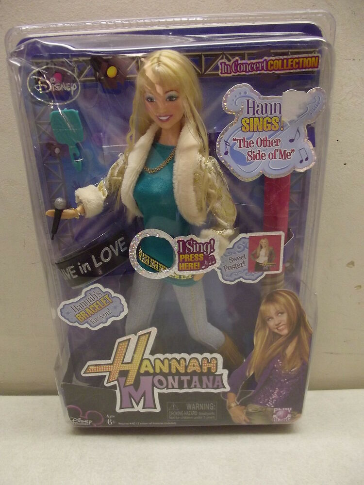 disney hannah montana in concert doll singing the other