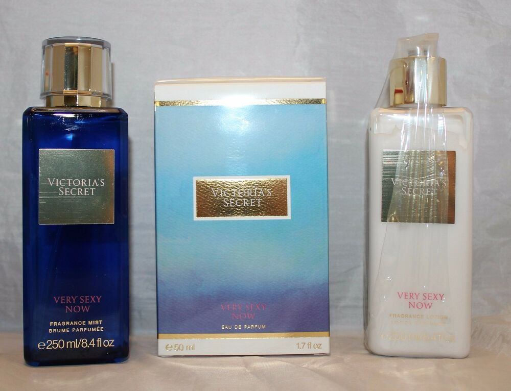 victoria 39 s secret very sexy now fragrance body lotion mist eau de parfum set ebay. Black Bedroom Furniture Sets. Home Design Ideas