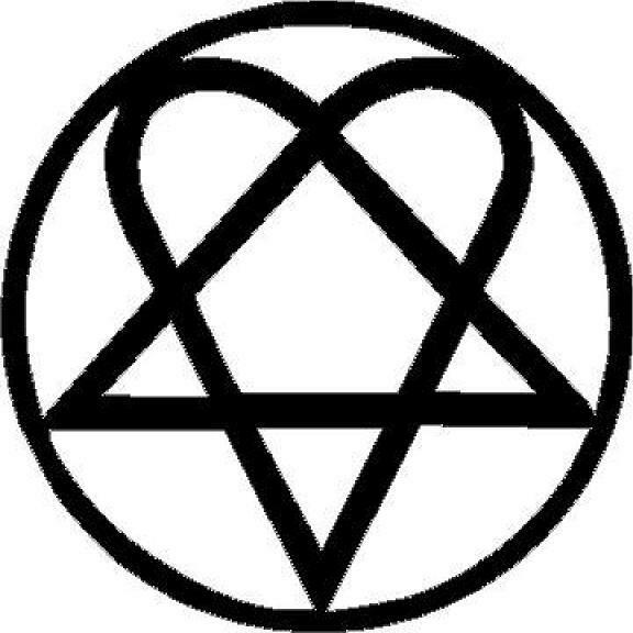 Heartagram vinyl decal/sticker outline love symbol HIM ...