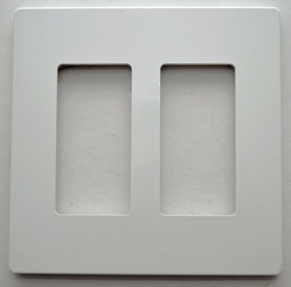 Enerlites SI8832 White 2 Gang Rocker Outlet Wall Plate