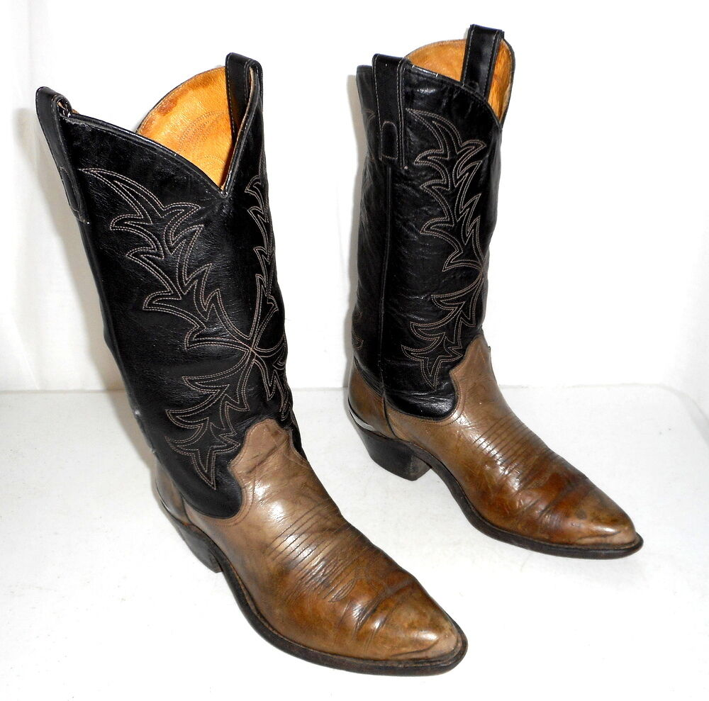cowboy boots black and grey mens size 9 ee womens