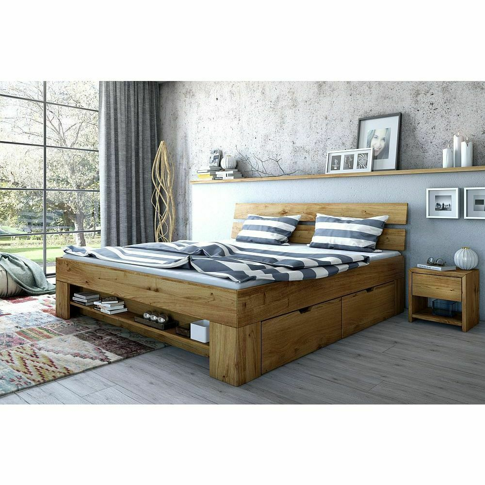 futonbett futonliege sevilla 180x200 inkl schubladen wildeiche neu ebay. Black Bedroom Furniture Sets. Home Design Ideas